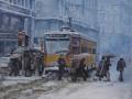 alla fermata del tram(2013) - olio su tela - cm. 50x60 (1)