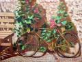 CAT. 376-12 Vecchia bicicletta accanto a una panchina