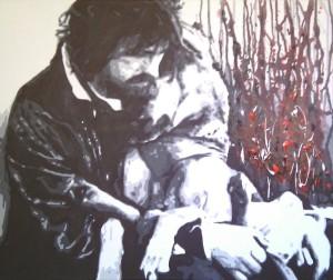 Farina Davide - Unconditional Love - acrilico - 60 x 50 x 4 cm - 2012