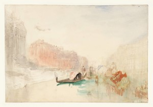 Venice: The Steps of Santa Maria della Salute, looking up the Grand Canal 1840 by Joseph Mallord William Turner 1775-1851