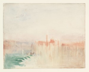 Venice: San Giorgio Maggiore at Sunset, from the Riva degli Schiavoni 1840 by Joseph Mallord William Turner 1775-1851