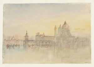 The Punta della Dogana and Santa Maria della Salute at Twilight, from the Hotel Europa 1840 by Joseph Mallord William Turner 1775-1851