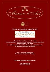 Locandina orchestra Casanova