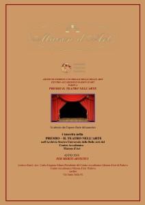 Attestato - Premio Il Teatro nell'arte