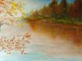 autunno in riva al fiume