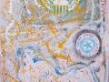 ASSOCIATED UNITED STATES,Mt. 255x140 acrilico vernici spray pop-art.2015