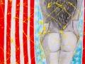 Born In The USA,acrilico su tela cm.80X100-2013