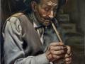 Il Fumatore.70x100 cm jpg