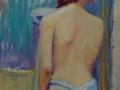 Nudo astratto, olio su tela, 100x60