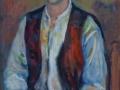 Ragazzo con pipa, olio su tela cm80x50 Anno 2004