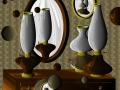 Gioco di specchi con lampade ad olio