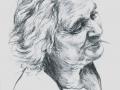 Ritratto della madre, grafite su carta, cm 21 x 29.50