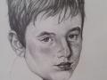 Ritratto di Beppe, matita su carta, cm 21 x 29.50, anno 2003