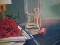 IL SACRIFICIO DI UN ARTISTA-olio su tela cm, 30x40 del 2014 opera di Marcello La Neve