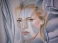 LA COSCIENZA-olio su tela cm, 100x100 del 2015 opera di Marcello La Neve