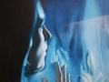 MARIA...PIENA DI GRAZIA-olio su tela cm, 40x50 del 2014 opera di Marcello La Neve