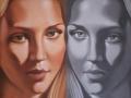 VITE PARALLELE-olio su tela cm, 40x50 del 2013 opera di Marcello La Neve