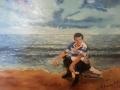 dipinto ad olio su cortone telato.. 30- 35