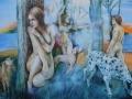 DIANA NASCONDE ARETUSA - Olio su tela cm. 120 x 80 (2)
