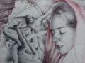 PASSIONES - Penna biro su tavola - 68 x 50