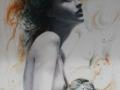 SPIRITO FELINO  - Olio su tela - 60 x 100