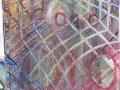 Cage(gabbia) acrilico+ colle ciniliche su tela 2008