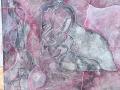 Paternità acrilico+colle viniliche su tela 100x80 2006