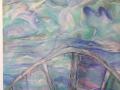 Schiuma quantica + portale acrilico su legno162x99 2014