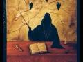 Al cospetto della morte Acrilico su tavola 50x70