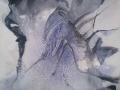Respiro, 2013, tecnica mista su tela, 100x120 cm