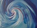Trascinamento, 2014, olio su tela, 70x100 cm