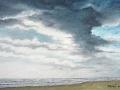 """""""Spiaggia d'Inverno"""" (acquarello)"""