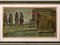 Cambio della Guardia (malti su cartone) (Dim. 51x88)
