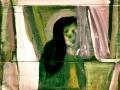 Donna Araba (smalti su cartone) (Dim. 65x57)
