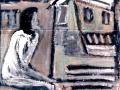 L'Attesa (smalti su cartone) (Dim. 78x88)