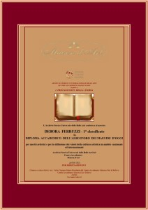 Diploma Accademico dell'Albo d'oro dei Maestri d'oggi