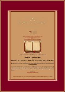 Diploma Accademico dell'Albo d'oro - testo critico