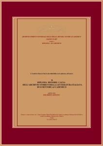 Diploma Archivio Storico della Letteratura Italiana B