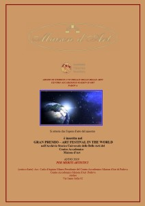 Gran Premio Art Festival in the world 2019 per sito