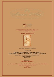 PREMIO - Leonardo Da Vinci - L'arte tra natura e scienza 2020