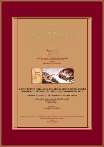 PREMIO - Leonardo Da Vinci - Michelangelo Buonarroti 2021