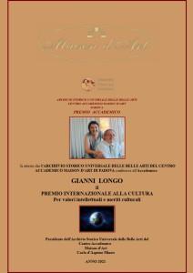 Premio Internazionale alla cultura 2021