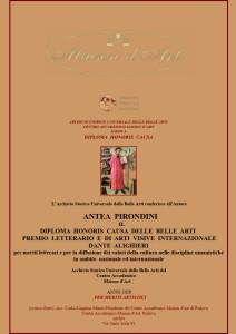Diploma Honoris Causa Premio Dante Alighieri