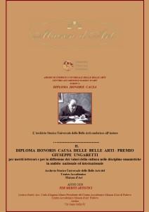Diploma Honoris Causa Premio Giuseppe Ungaretti