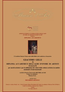 Diploma Accademico dell'Albo d'Onore