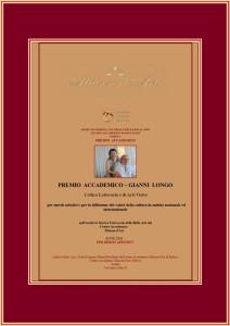 Premio accademico Gianni Longo con cornice