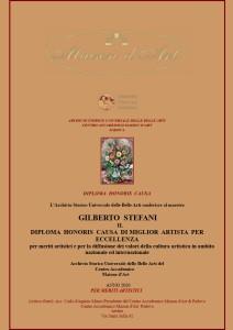 Diploma Honoris Causa di miglior artista per eccellenza 2020