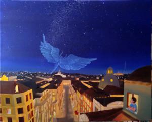 Il Volo dell angelo 100x80