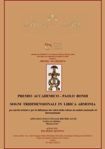 Premio Accademico Paolo Bondi 2020