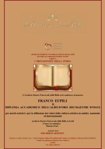 Diploma Accademico dell'Albo d'oro deii Maestri d'oggi B